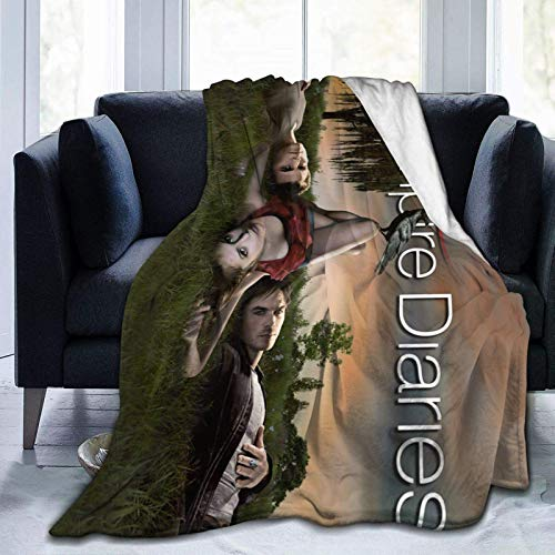 The Vampire Diaries Blanket Fleece Ultra-Soft and Warm Winter Throw Leisure Outdoor Blankets for Living Room Bed Couch (Vampire 5, 60'x50')