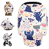 Nursing Cover Breastfeeding Cover, Soft Breathable Infant Carseat Canopy, Infant Stretchy Cover