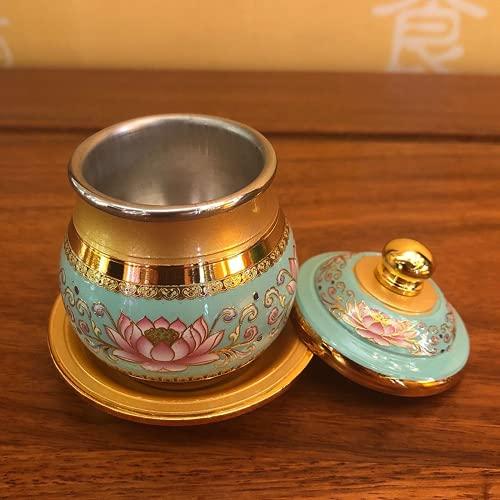JONJUMP Copa de Agua Sagrada Templo Budista Copa Tributo de Buda Hogar para Buda Copa Decoración Budista Suministros