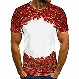 YUANCHENG Camiseta 3D para Hombre, Camiseta Informal de Manga Corta con Cuello Redondo, Camiseta Estampada Natural, Camisetas interesantes