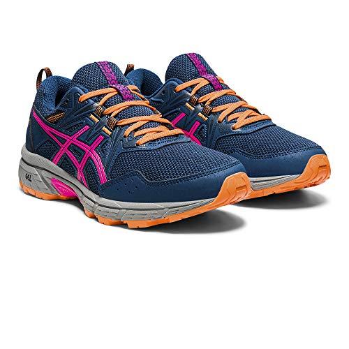 Asics Gel-Venture 8, Trail Running Shoe Mujer, Mako Blue/Pink GLO, 38 EU
