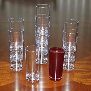 Polar Ice Plastic Straight Wall Shooter Glasses, 1.75-Ounce, Clear, 50-Pack