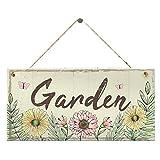 Huangzhiping 1Pc Garten Regeln Blumen Grün Holz Zeichen Wand Garten Wandbehang Heim Dekor Haus Zeichen Gartenhaus Freundschaft Geschenk - Stil 02