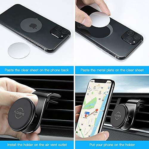 VOLPORT Adjustable 360/° Degree Rotation Clip /& Switch Lock Silicone Socket Vent Mount and 2 Pack Pops Sticky Adhesive for Grip Stand Compatible iPhone GPS Android Air Vent Phone Holder for Car Socket
