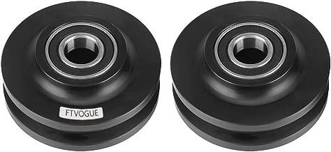 FTVOGUE Home Use 2Pcs Sliding Barn Door Wheel Closet Hardware Roller Cabinet Window Pulley