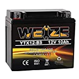 Weize YTX12-BS Motorcycle Battery High Performance - Maintenance Free...
