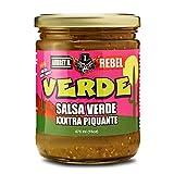 Aubrey D. Rebel Salsa XXX Verde, Vegan, Gluten Free Hot Spicy for Dipping Tortillas, Nachos, Corn...