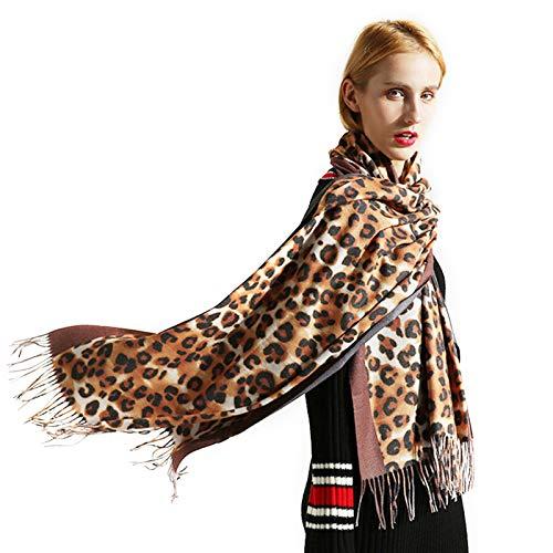 Fascigirl Schal Schal, HalswäRmer Schal mit Leopardenmuster Winter Schal für Frauen
