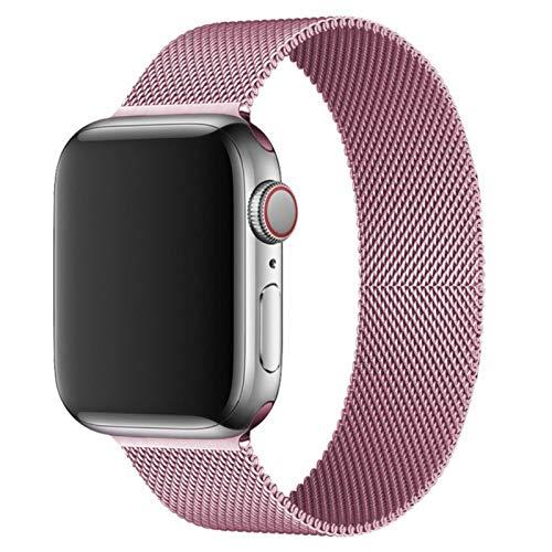 Pulsera Banda de metal de acero inoxidable Para Apple Watch SE 6 5 4 3 2 1 42mm 38mm 40mm 44mm Correa de pulsera-Oro rosa, Para 42MM o 44MM