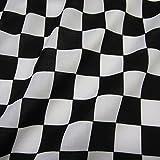 Stoff Meterware Baumwolle Zielflagge Formel 1 Schachbrett