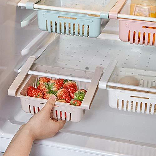 Hamkaw Cajón Organizador de refrigerador retráctil, Soporte de ...
