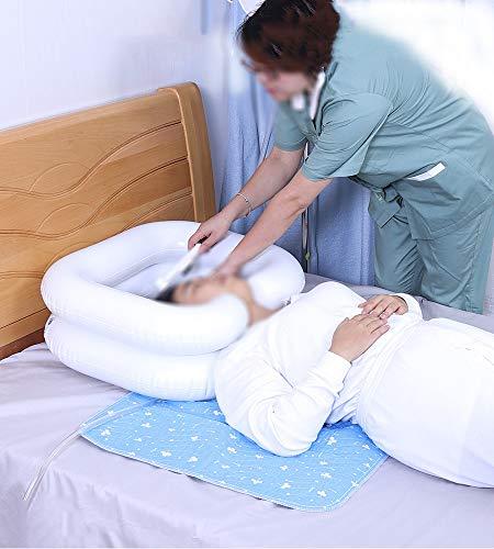 Opblaasbaar haarwasbakje - Haarwasbakje met afvoerslang - Nachtkastje voor gehandicapten, zwanger, ouderen en kinderen