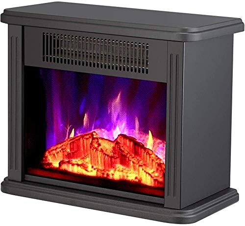 MIEMIE Calentador de Estufa eléctrico con Quemador de leña Efecto de Llama Chimenea Independiente Sala de Estar Sobrecalentamiento Permanente E