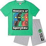 LEGO Ninjago Schlafanzug Shorty Jungen Kurz (Grün-Grau, 116-122)