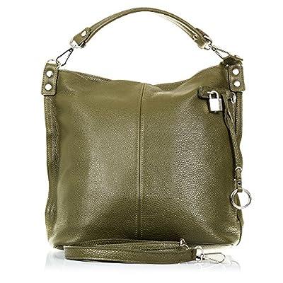 FIRENZE ARTEGIANI.Bolso shopping bag de mujer piel auténtica.Bolso TOTE cuero genuino,piel DOLLARO.Correa bandolera. MADE IN ITALY. VERA PELLE ITALIANA. 35x32x15,5 cm
