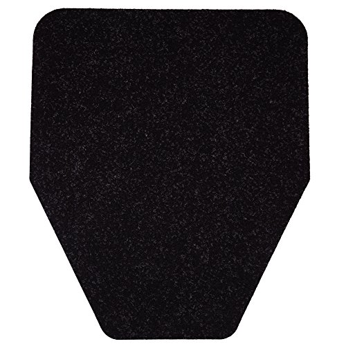 Modern Industrial Urinal Mat (6-Pack) Non-Slip, Odor-Eliminating Disposable Mats (Black)