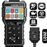 OBD2 Scanner TOPDON AL600, ABS SRS Code Reader Car Diagnostic Scan Tool, Active Test for ABS, SRS Diagnostics, with Car Maintenance Reset Service of Oil, BMS, SAS