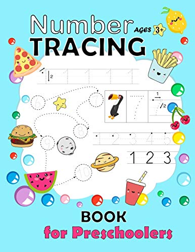 Number Tracing Book for Preschoolers: Trac number workbook Practice Workbook for Pre K Learn and write number 0 - 20 Math Activity Book Number ... Learning the Easy Maths for Kids Ages 3-5