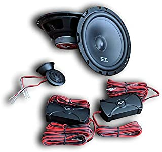 CT Sounds 6.5 Inch Car Component Speaker Set, 4 Ohm Impedance, 14mm Silk Dome Tweeter, 2-Way Full Range, 50 Hz ~ 20 kHz Frequency Response, Stylish Crossover Box, Set of 2 – BIO 6.5 2-Way