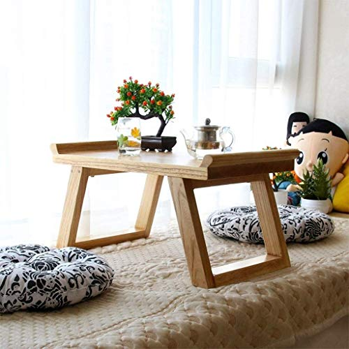 Goede Tv-standaard lamp telefoontafel sofa bijzettafel eiken tafel koffietafel woonkamermeubels tafel computertafel woonkamer tafeltje massieve tafel Erkervensttafel (kleur: tafelgrootte: 60 x 35 x 29 80 * 45 * 33 cm hout
