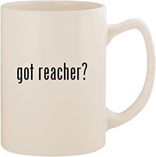 got reacher? - White 14oz Ceramic Statesman Coffee Mug Cup