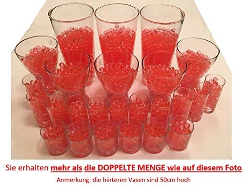 Waterparels, Crystal Aarde, waterkogels, vaasvuller, decoratie, 200 gram, voor planten/glas/vaas, parelballen 11-15 mm diameter - ca. 25 liter, rood