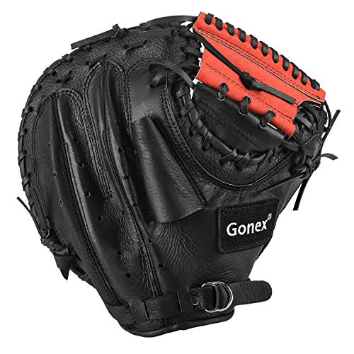 Gonex Baseball Catchers Mitt, Youth Boys Baseball Catchers Glove Right Hand Throw 32 Inch with Carrying Bag