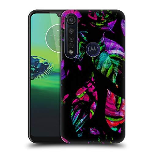 Officiële Haroulita Achterlicht Bladeren Hard Back Case Compatibel voor Motorola Moto G8 Plus