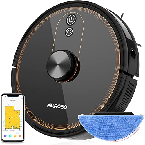 AIRROBO T9 Saugroboter mit Wischfunktion, WLAN Staubsauger Roboter, Laser Navigation, Google Home, Alexa- & App-Steuerung, 3000Pa Saugleistung, 300min Laufzeit.