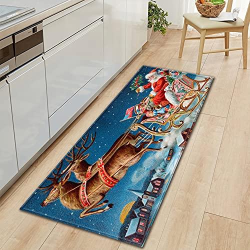Stampato tappetino da cucina, ingresso zerbino decorazione, soggiorno tappeto, camera da letto materasso antiscivolo mat NO.24 60X180cm