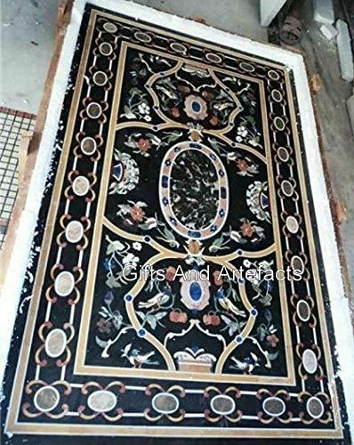 Gifts And Artefakts Rechteckiger Konferenztisch 182,9 x 91,4 cm Marmor Büro Meeting Tisch Tischplatte, handgefertigt aus Indien