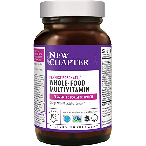 New Chapter Postnatal Vitamins, Lactation Supplement With Fermented Probiotics + Wholefoods + Vitamin D3 + B Vitamins + Organic Non-gmo Ingredients - 192 Ct