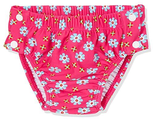 Playshoes Baby-Mädchen UV-Schutz Windelhose Blumen zum Knöpfen Schwimmwindel, Rosa (Pink 18), 86 (Herstellergröße: 86/92)