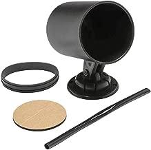 GlowShift Universal Black Single Gauge Swivel Dashboard Pod - Fits Any Make/Model - Swivels 360 Degrees - ABS Plastic - Mounts (1) 2-1/16