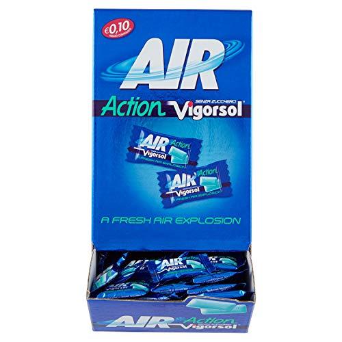 Vigorsol Air Action Gomme da Masticare Senza Zucchero, Chewing Gum Gusto Menta, Confezione da 250 Pezzi da 2 Gomme Ognuno