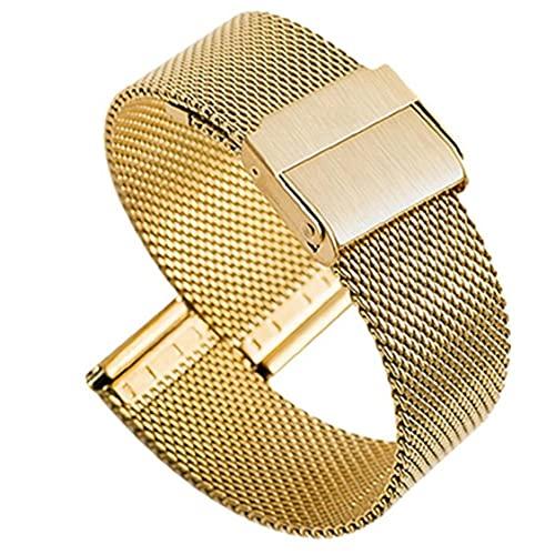 YepYes Reloj de Acero Inoxidable Reloj Correas Banda Superior Fast Pulsera Ultrafina de estreno de Hombres Mujeres Oro 20mm