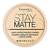 Rimmel - Poudre Compact Stay Matte - Anti-brillance - Fini mat et naturel - 001 Transparent - 14gr