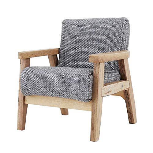Juego de muebles de casa de muñecas UK escala 1/12 mini casa de muñecas accesorios miniatura sofá madera modelo salón muebles