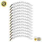 Pegatinas Llanta para Bicicleta de Carretera 40mm Modelo Mavic Cosmic Carbon Stickers Bike (Blanco)