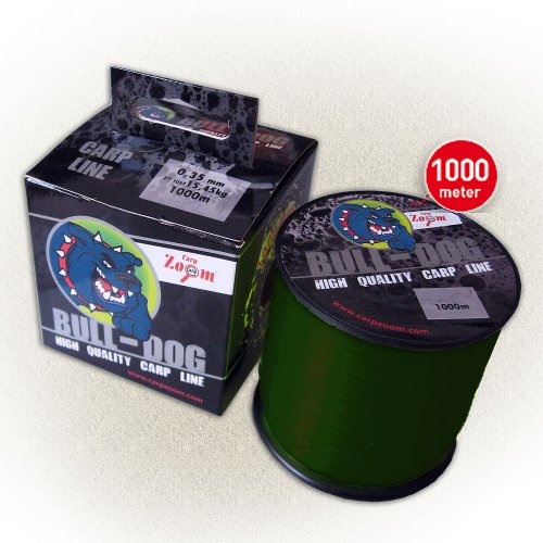Carp Zoom Bull-Dog Carp Line 0,35 mm 15,45 Kg 1000m Dark Green Schnur