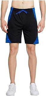 waitFOR Men Summer Sports Shorts Solid Colour Patchwork Loose Tracksuit Bottoms Casual Elastic Waist Drawstring Beach Shor...
