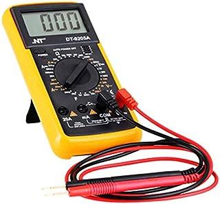 SLACTech DT-9205A Multímetro Digital para Medir Corriente DC Amperímetro AC Voltímetro Ohmímetro Continuidad con LCD Retroiluminada