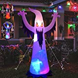 IFLYOOY 8.5 FT Halloween Inflatable White Ghost Outdoor Decorations with Color LED Lights & Blinking Eyes, Indoor Outdoor Halloween Decor Yard Garden Lawn Festival Party Decorations