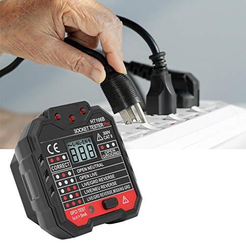 Comprobador de fallas Comprobador de Red Enchufe eléctrico para detectar línea nula(Transl)