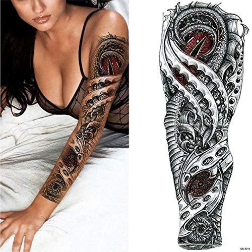 Handaxian 3pcsBrand Nuevo Brazo Tatuaje Etiqueta Horror Reloj de ...