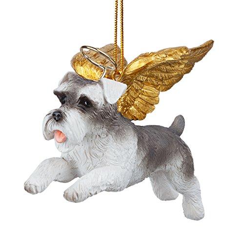 Christmas Tree Ornaments - Honor The Pooch Miniature Schnauzer Holiday Angel Dog Ornaments - Christmas Decorations