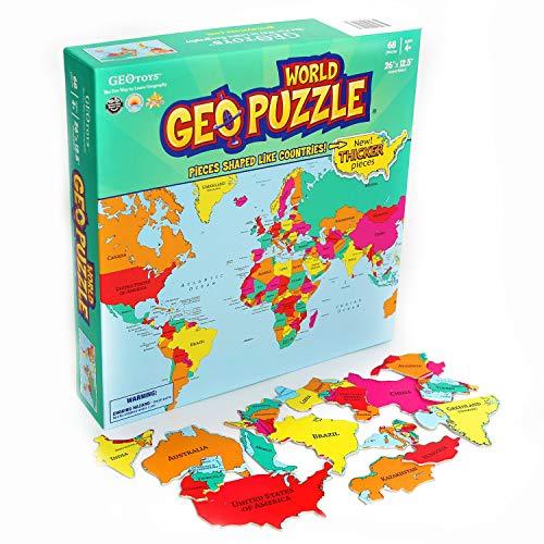 Geotoys 10610 - GeoPuzzle - World (Englisch)