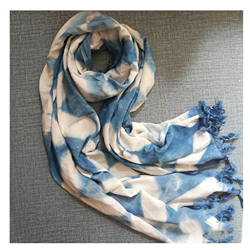 Xu Yuan Jia-Shop Moda Bufanda Chal Bufanda Caliente algodón y Lino mantón Bufanda de la Manera de Las Mujeres Grandes for Señoras adecuados for Otoño e Invierno Bufanda acogedora (Color : B)