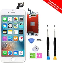 Premium Screen Replacement Compatible with iPhone 6S 4.7 inch Full Assembly -LCD Touch Digitizer Display Glass Assembly with Tools, Fit Compatible with iPhone 6S (Whtie)