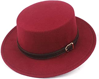 2019 Mens Womens Hats Unisex Men Women Flat Top Hat Autumn Pop Church Travel Hat Fedora Hat Jazz Hat for Gentleman Casual Wild Fascinator Tassel Pork Pie Hat Wool Fascinator
